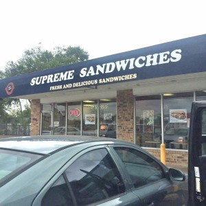 supreme sandwiches outside