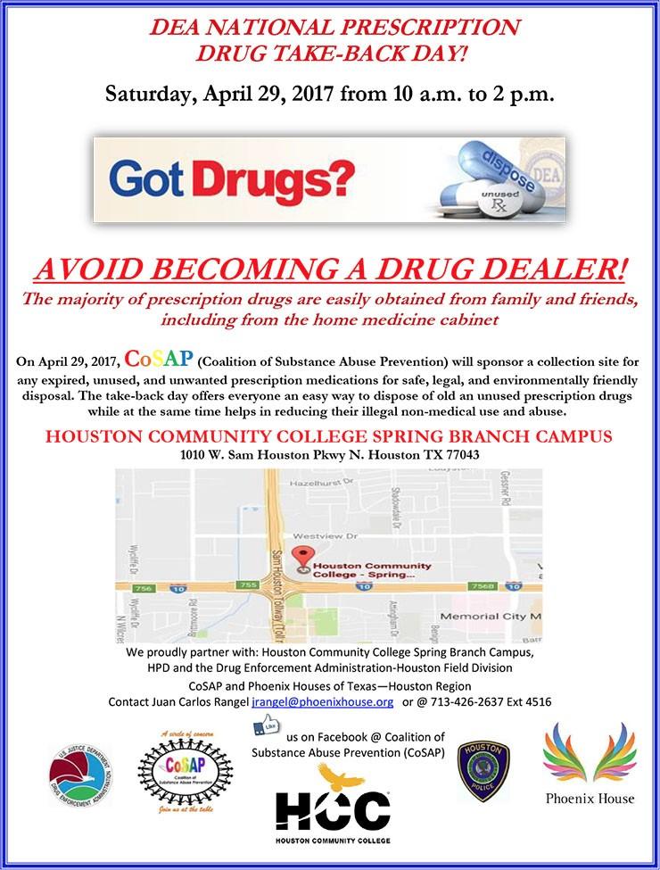DEA National Drug Take-Back Day @ HCC Spring Branch Campus | Houston | Texas | United States