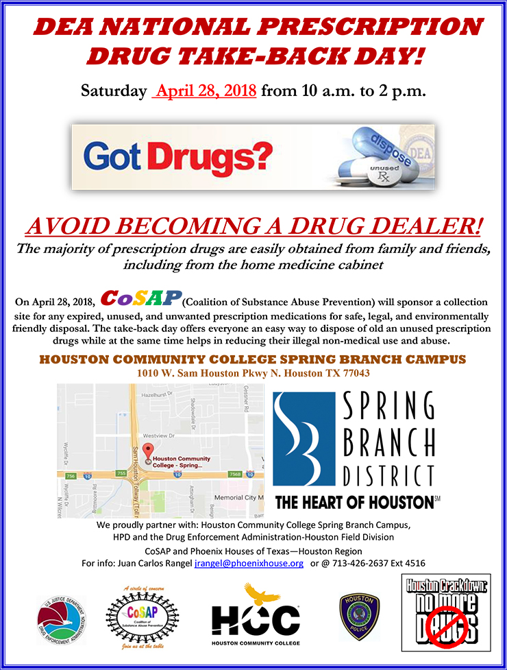 Dea National Prescription Drug Take Back Day Spring Branch