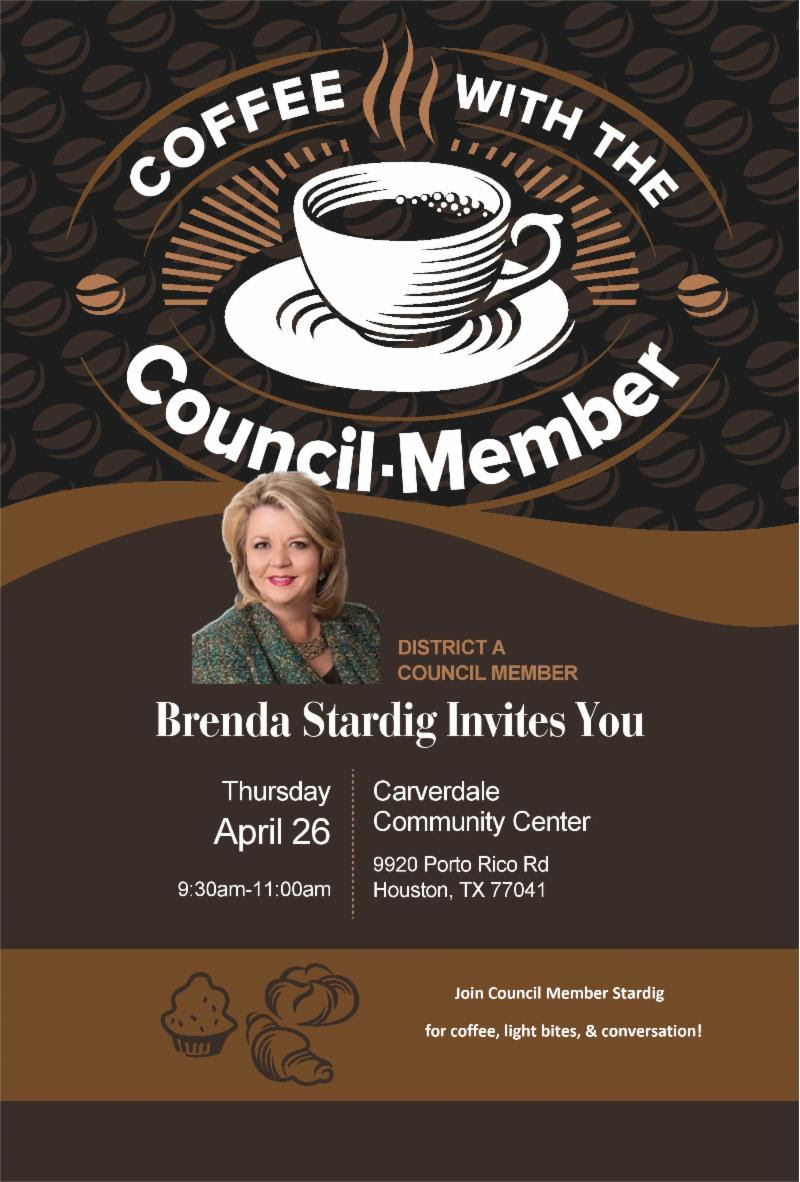 Coffee with the Council Member @ Carverdale Community Cener | Houston | Texas | United States