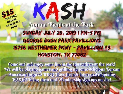 Join us for the KASH Annual Picnic at the Park!