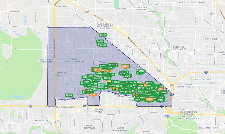 spring branch area houston map Houston By The Neighborhood New Homes Replace Flea Market In