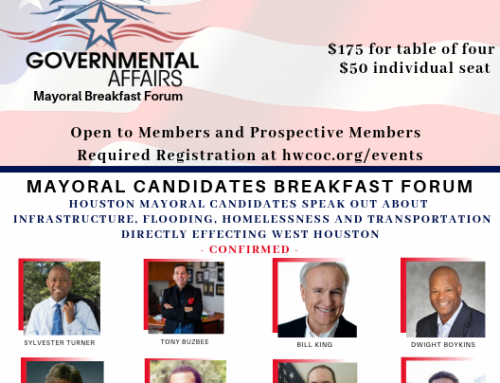 Mayoral Forum on Houston's Westside hosted by the Houston West Chamber & Partners
