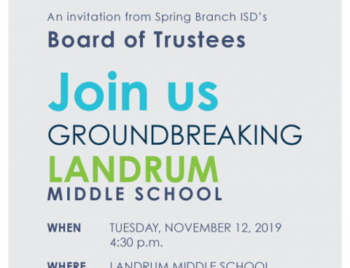 Join Us for the Landrum Middle School Groundbreaking. Nov. 12