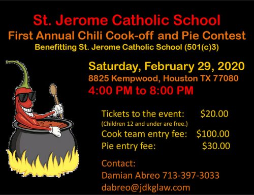 St. Jerome Chili Cook Off and Pie Contest, Feb. 29