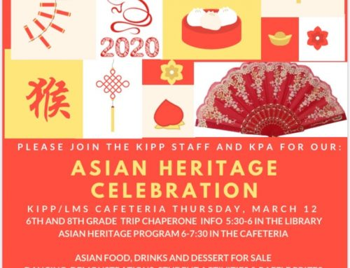 KIPP: Asian Heritage Celebration, March 12
