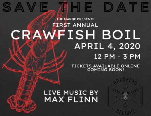 Save the Date: First Annual Crawfish Boil. April 4