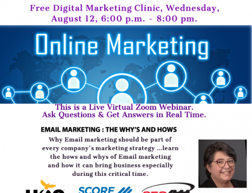 Small Business Success Series Starts 8-24 and Digital Marketing Clinic 8-12