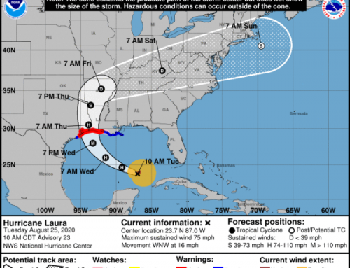 UPDATE: Hurricane Laura Tuesday, 10:00 a.m.