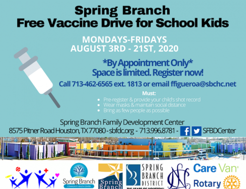 Spring Branch Free Vaccine Drive for School Kids, Aug. 3-21