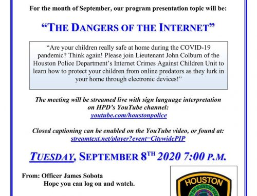 Chief's Citywide P.I.P. Meeting: The Dangers of the Internet