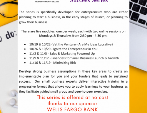 HCC: Application Deadline Tuesday Noon – October 13 – Small Business Success Series by HCC Oct 19 – Nov 19
