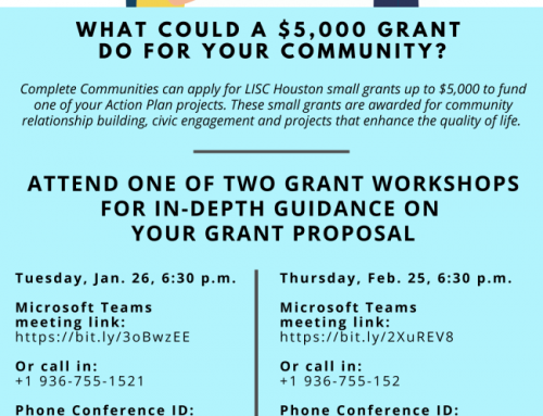 Complete Communities Grant Proposal Workshops