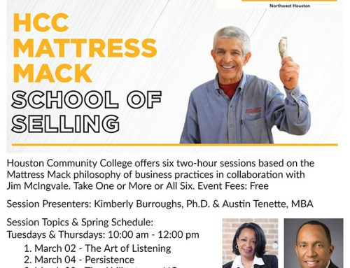 HCC Mattress Mack School of Selling – Six Virtual 2-Hour Sessions