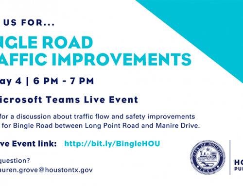 Virtual Public Meeting, 5/4 – Bingle Road Traffic Improvements