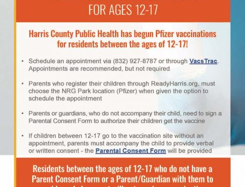 HCPH COVID-19 Vaccinations for Ages 12-17