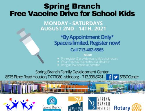 Spring Branch: Free Vaccine Drive for School Kids, Aug. 2-14