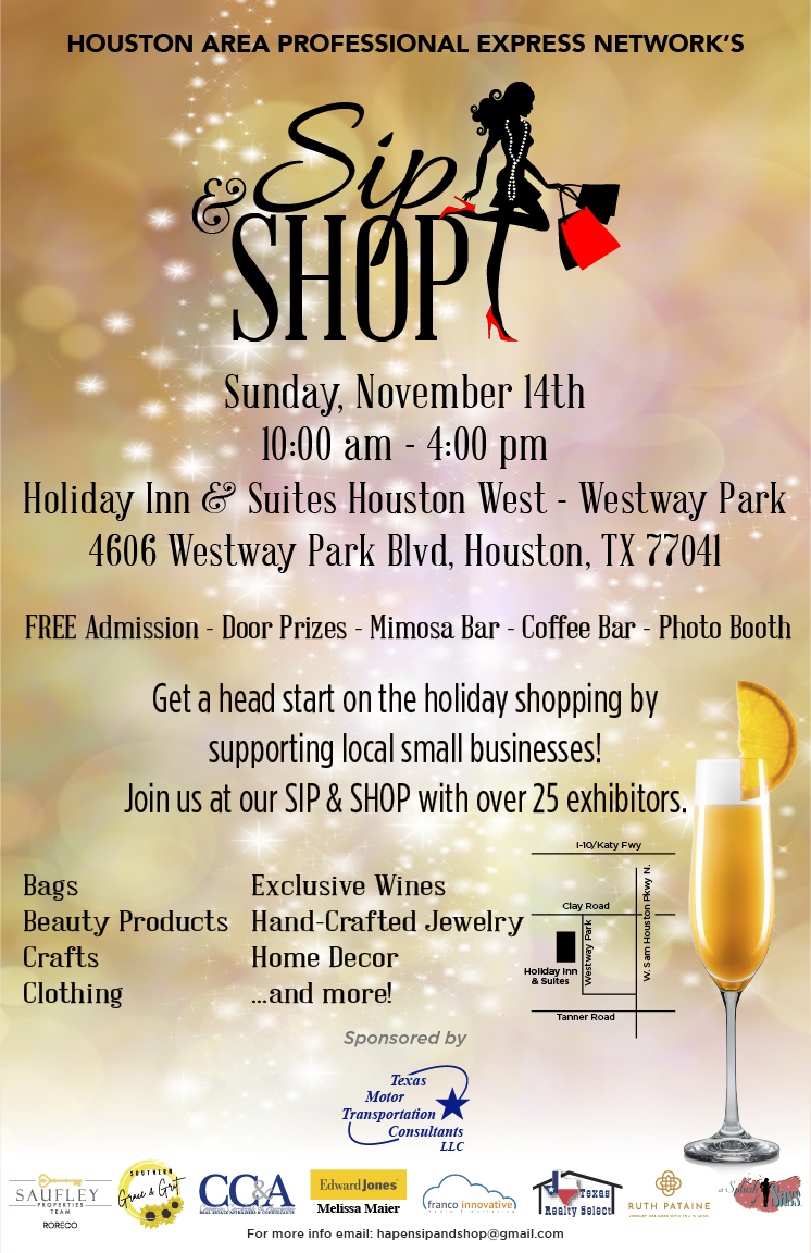 Sip & Shop @ Holiday Inn & Suites Houston West - Westway Park